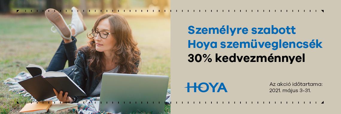 Személyre szabott Hoya szemüveglencsék 30% kedvezménnyel! - meghosszabbítva