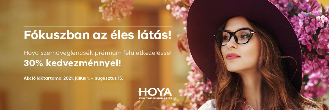 Hoya egyfókuszú lencsék 30% kedvezménnyel!
