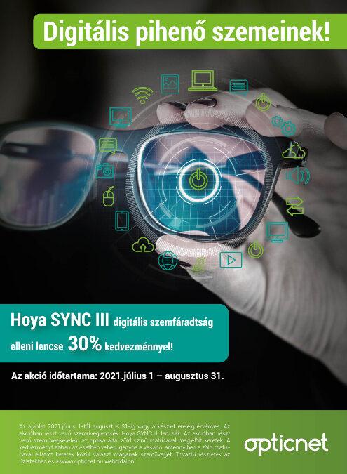 Hoya Sync III + Opticpro keretek nyári akció!