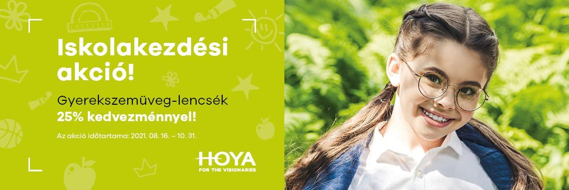 Hoya Kids egyfókuszú szemüveglencsék 25% kedvezménnyel